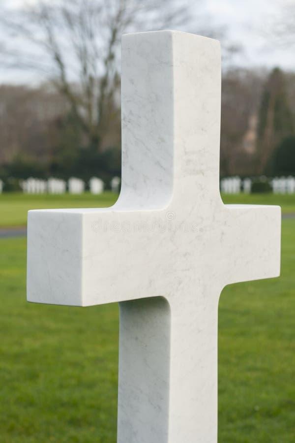 Campo americano Bélgica Waregem WW1 de Flanders do cemitério foto de stock