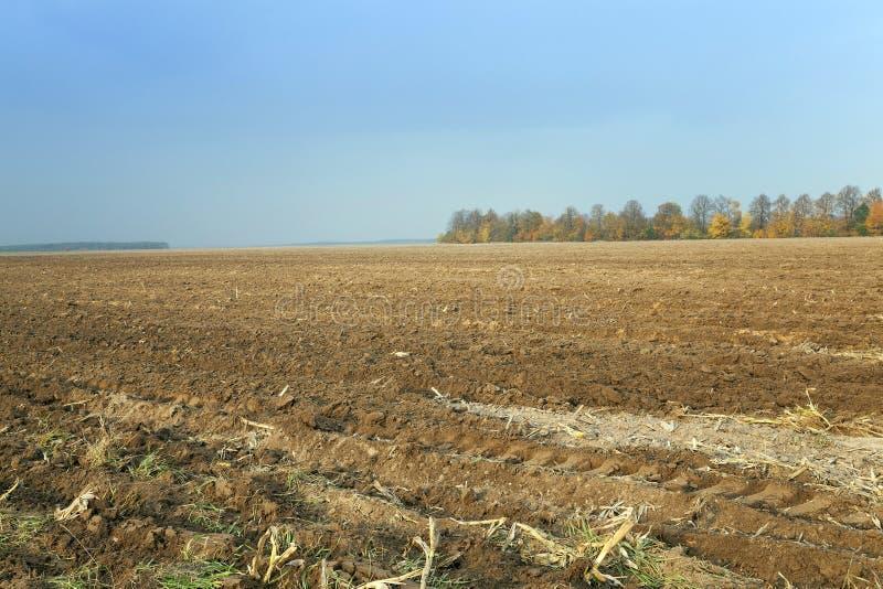 Campo arado, agrícola fotos de archivo libres de regalías
