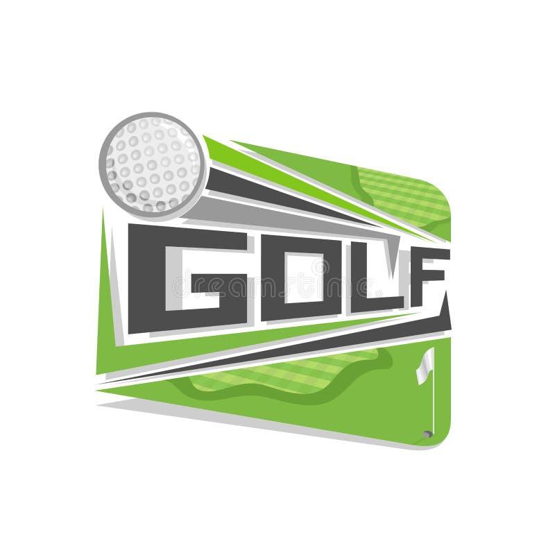 Campo astratto di golf di logo di vettore illustrazione di stock