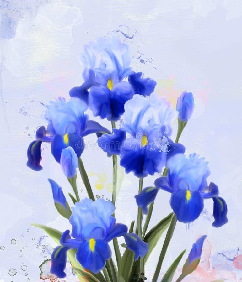 """Campo azul de la primavera y del iris del †de las flores del verano """" fotos de archivo"""