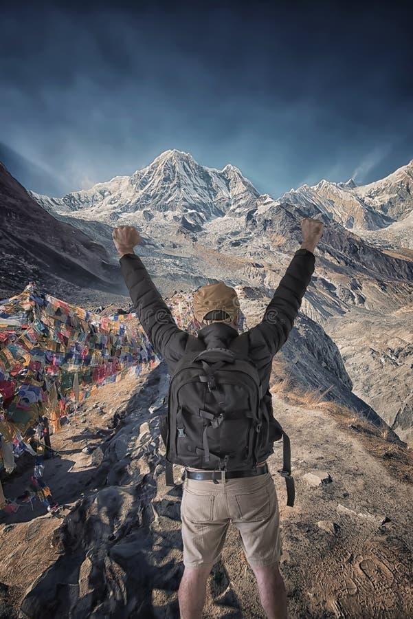 Campo bajo de Annapurna imagen de archivo libre de regalías