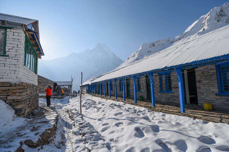 Campo bajo de Annapurna en Nepal imagen de archivo libre de regalías