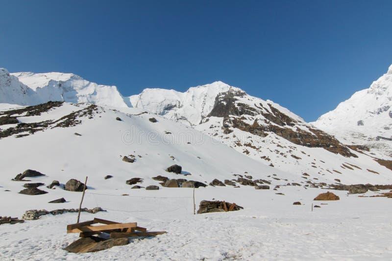 Campo basedi Annapurna del todi trekking di immagine stock libera da diritti