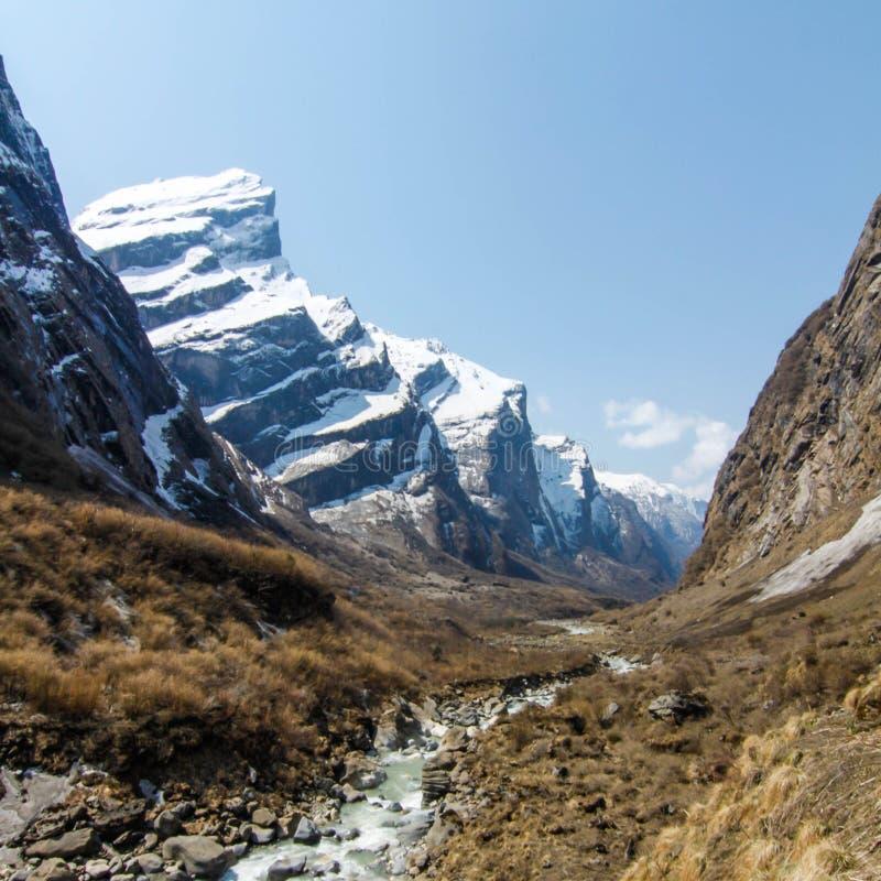 Campo base di Annapurna nel Nepal immagini stock libere da diritti