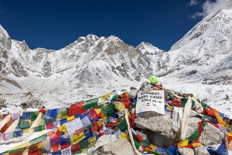 CAMPO BASE TREK/NEPAL DI EVEREST - 1° NOVEMBRE 2015 fotografie stock libere da diritti