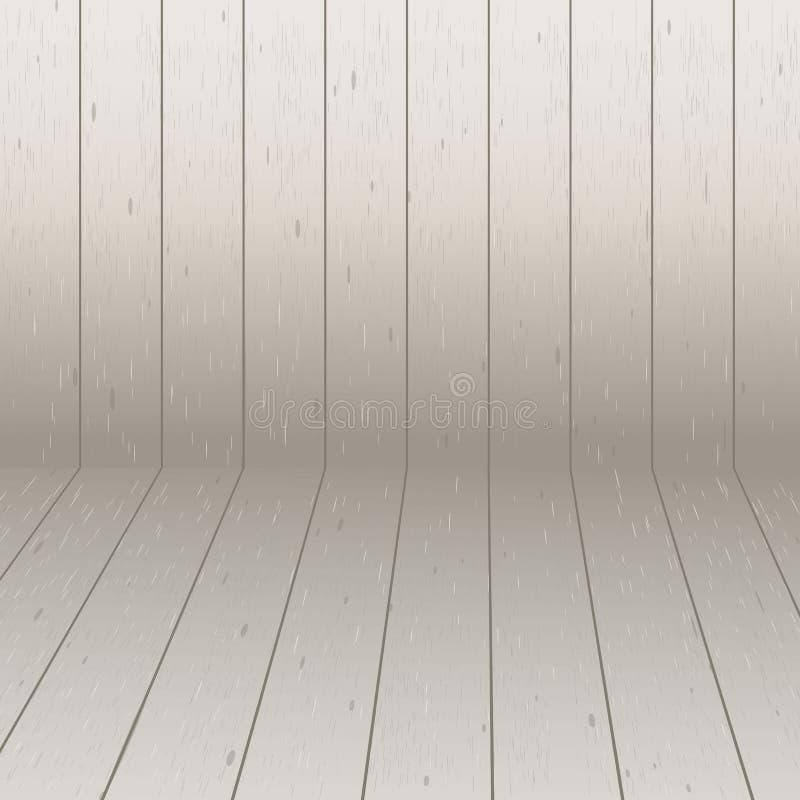 Campo beige isométrico del modelo simple abstracto de madera stock de ilustración