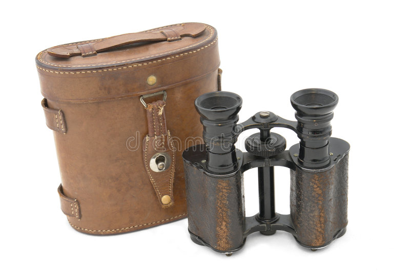 Campo británico del ejército binocular del siglo 19 foto de archivo libre de regalías