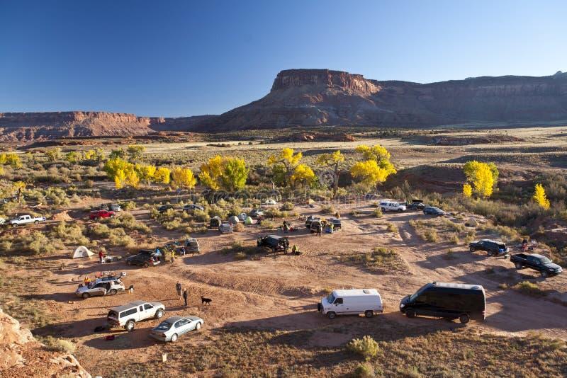 Campo cerca del parque nacional de Canyonlands. foto de archivo