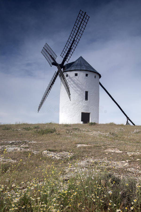 campo criptana de ветрянка стоковая фотография