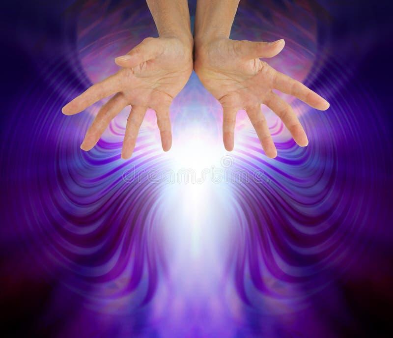 Campo curativo impressionante di energia di Quantum immagine stock