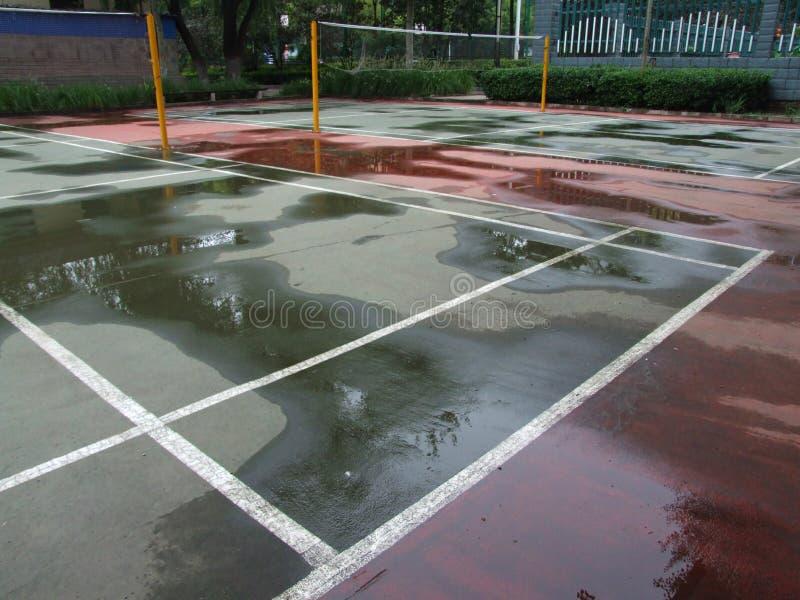 Campo da badminton immagini stock