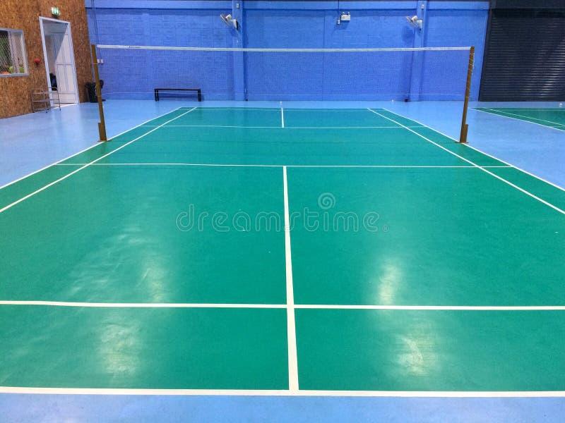 Campo da badminton fotografia stock