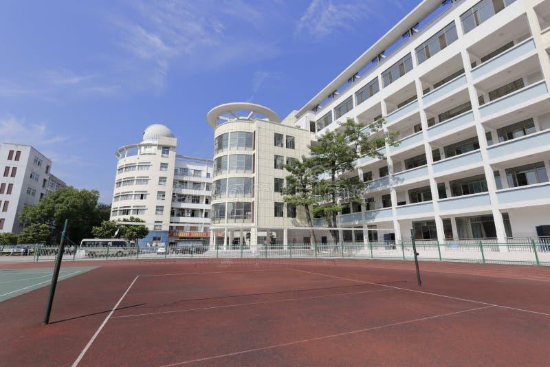 Campo da badminton della High School di minoranza nazionale di ningde fotografia stock libera da diritti