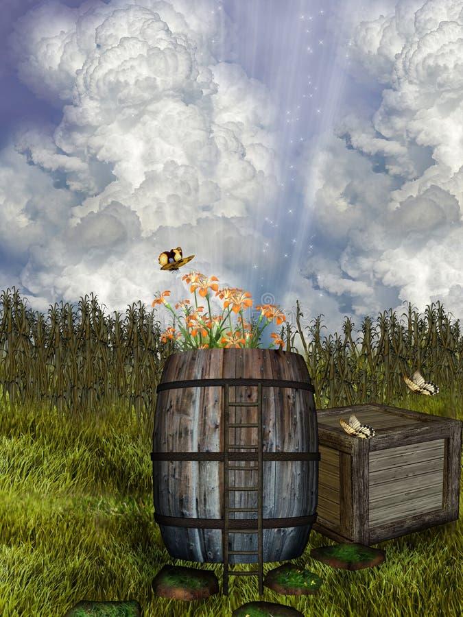 Campo da fantasia ilustração do vetor