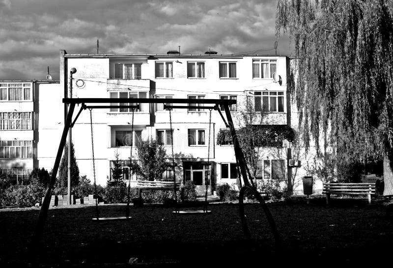 Campo da giuoco abbandonato fotografia stock libera da diritti