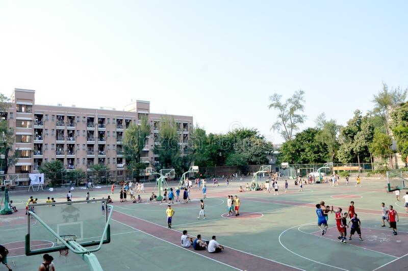 Campo da giuoco della scuola fotografie stock libere da diritti