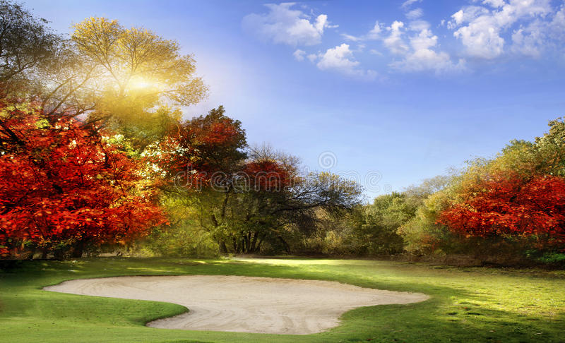 Campo da golf fotografie stock libere da diritti