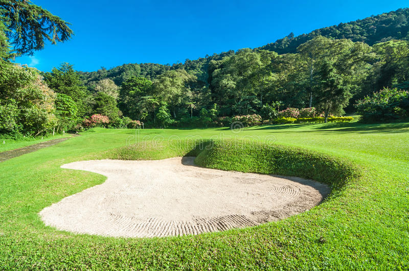 Campo da golf in Bali immagine stock libera da diritti
