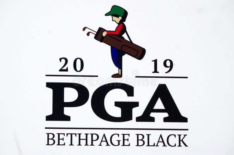 Campo da golf del nero di Bethpage fotografia stock libera da diritti