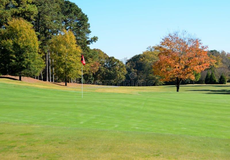 Campo da golf di autunno fotografia stock libera da diritti