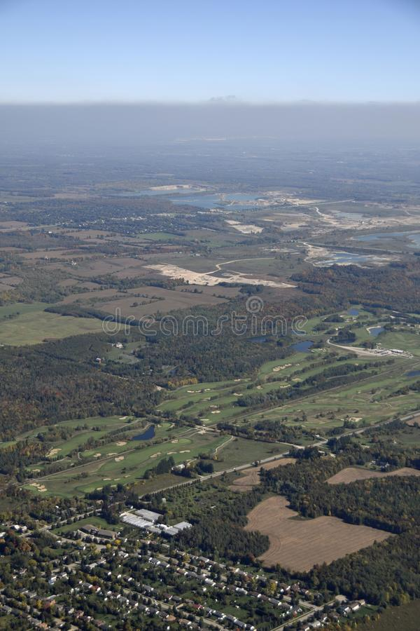 Campo da golf di Caledon immagine stock