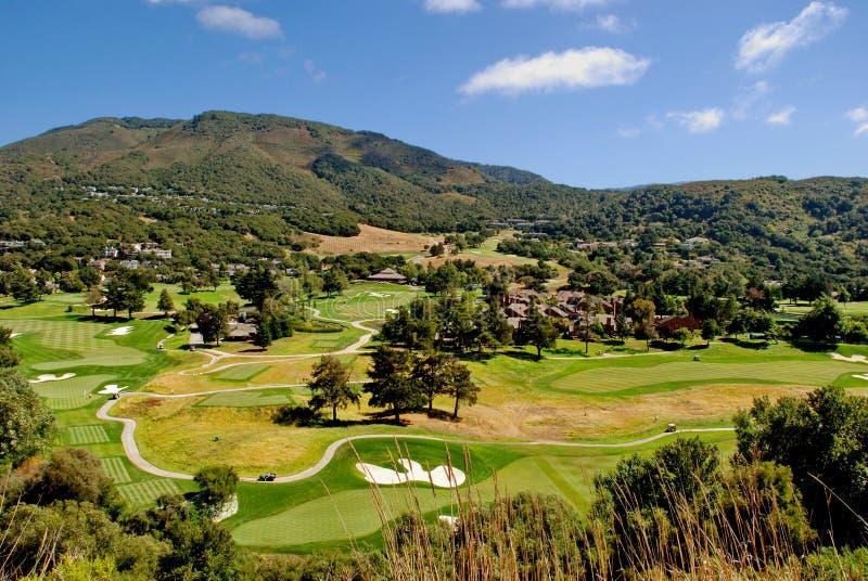 Campo da golf di Pebble Beach immagine stock