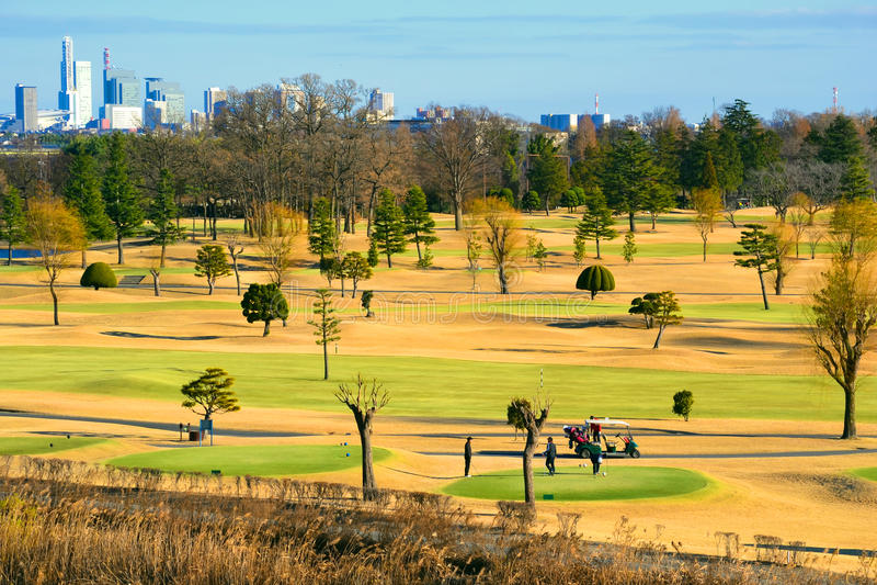 Campo da golf di Saitama vicino a Tokyo fotografia stock