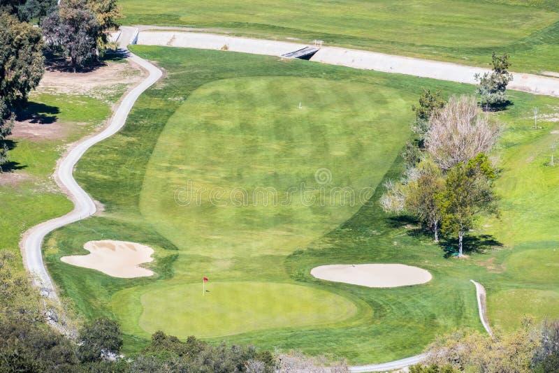 Campo da golf visto da sopra immagine stock