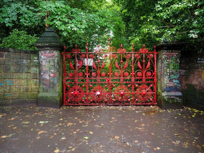 Campo da morango em Liverpool fotos de stock