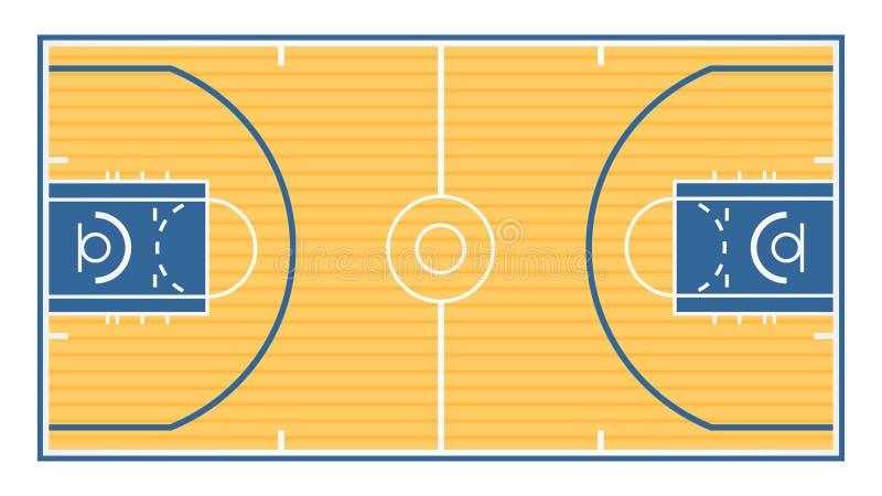 Campo da pallacanestro illustrazione vettoriale