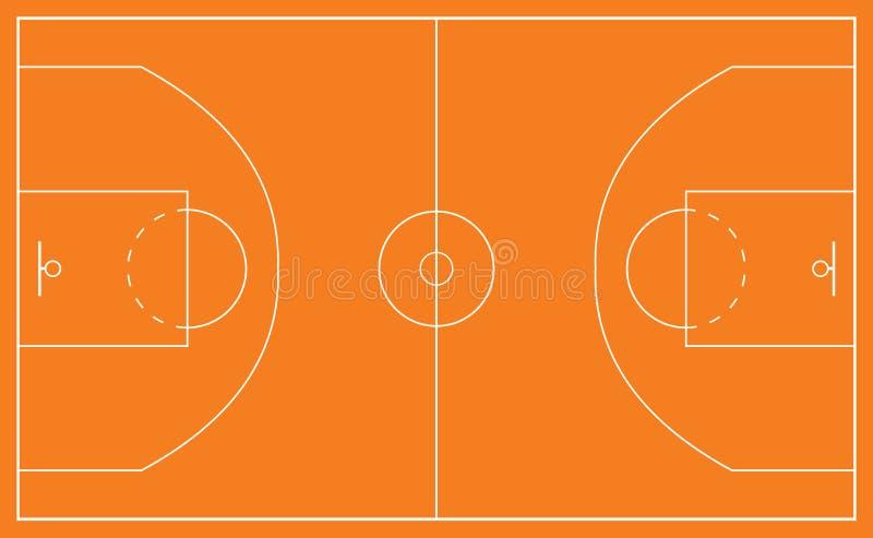 Campo da pallacanestro illustrazione vettoriale - Immagini stampabili di pallacanestro ...