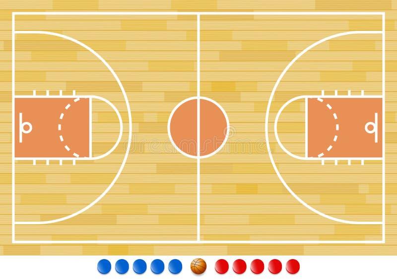 Campo da pallacanestro, gioco di pallacanestro, sport royalty illustrazione gratis