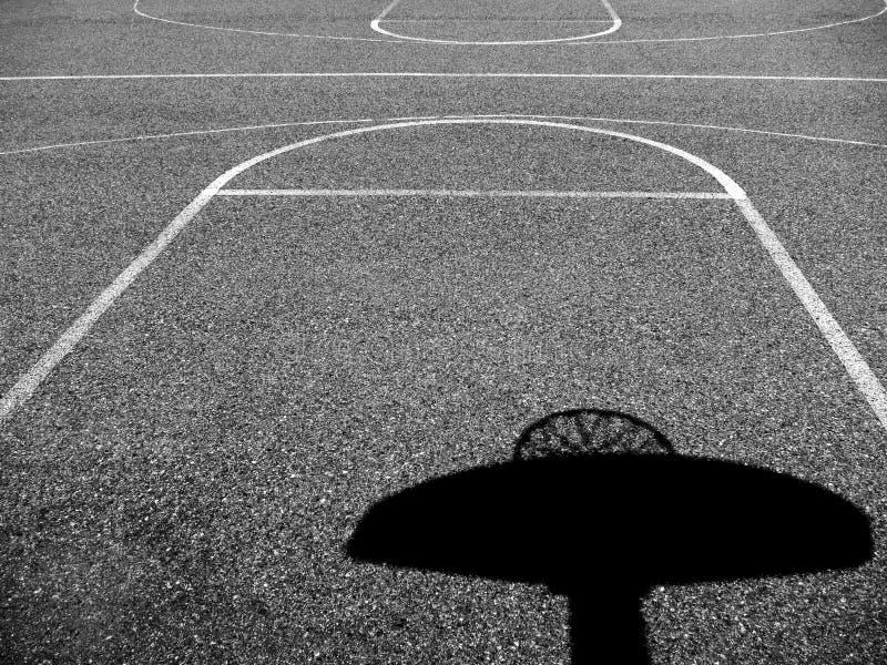 Campo da pallacanestro urbano fotografie stock libere da diritti