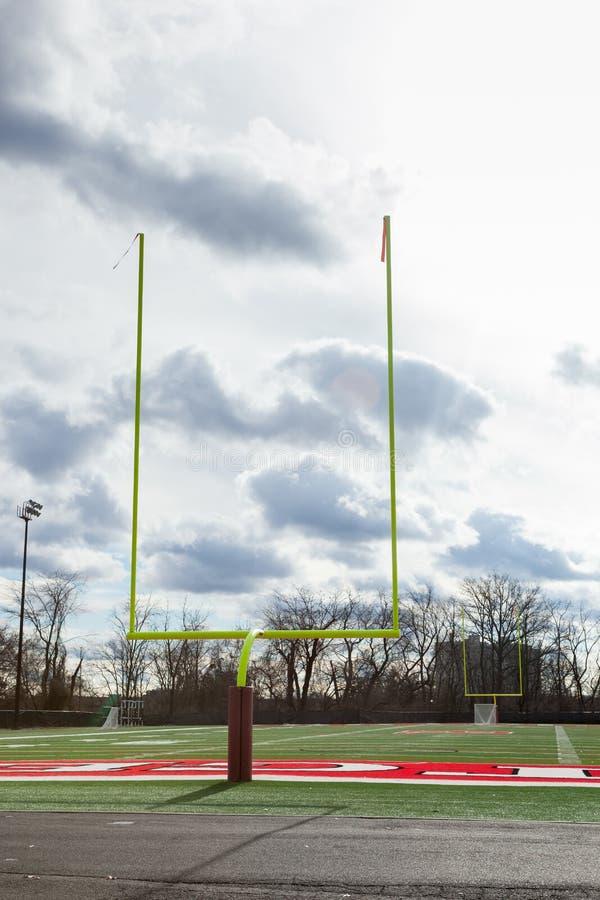 Campo da prática do futebol de Rutgers fotografia de stock