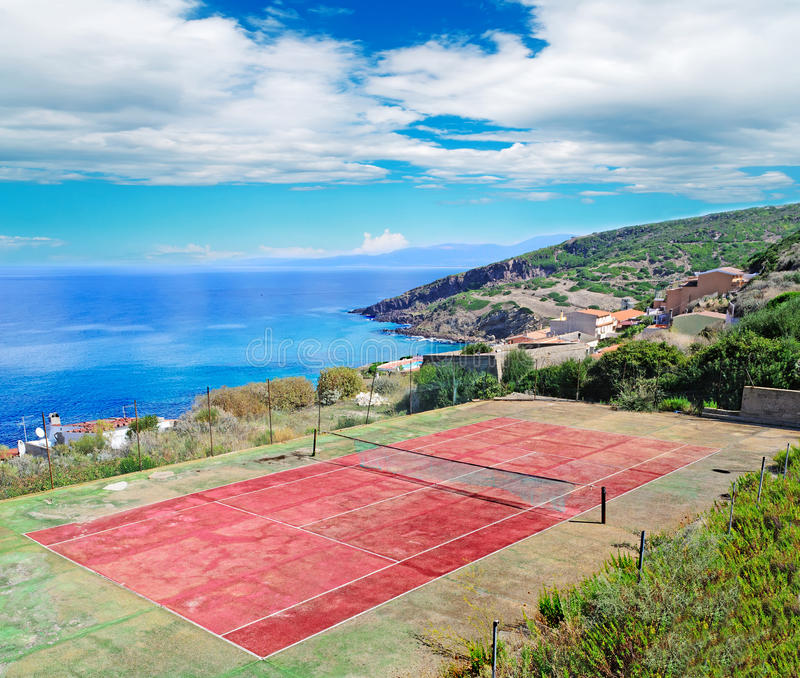 Download Campo da tennis immagine stock. Immagine di drammatico - 30825577