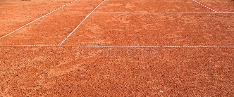Campo da tennis della scoria fotografie stock libere da diritti