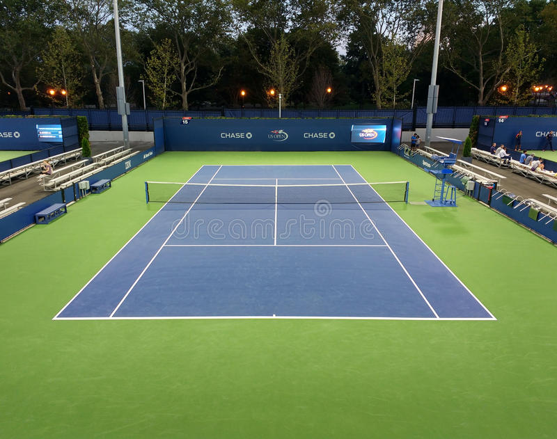 Campo da tennis, Flushing Meadows Corona Park, Queens, New York, U.S.A. immagini stock