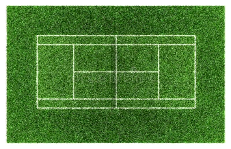Campo da tennis sull'erba di tennis illustrazione di stock