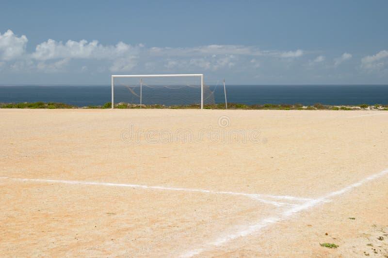 Campo da terra de futebol foto de stock royalty free