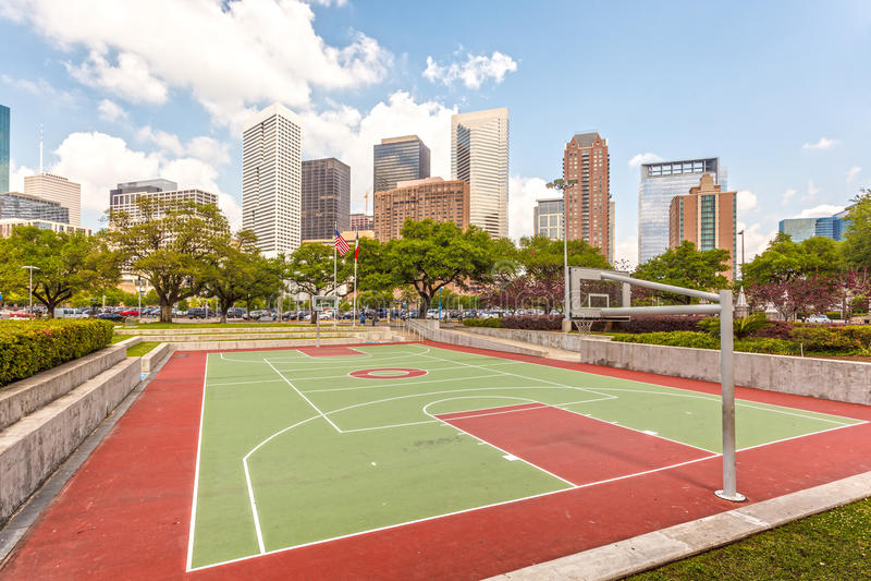 Campo de básquete em Houston, Texas fotos de stock royalty free