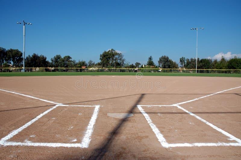 Campo de béisbol foto de archivo