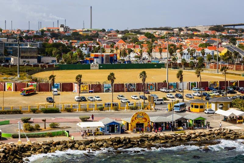 Campo de béisbol en Curaçao imagenes de archivo