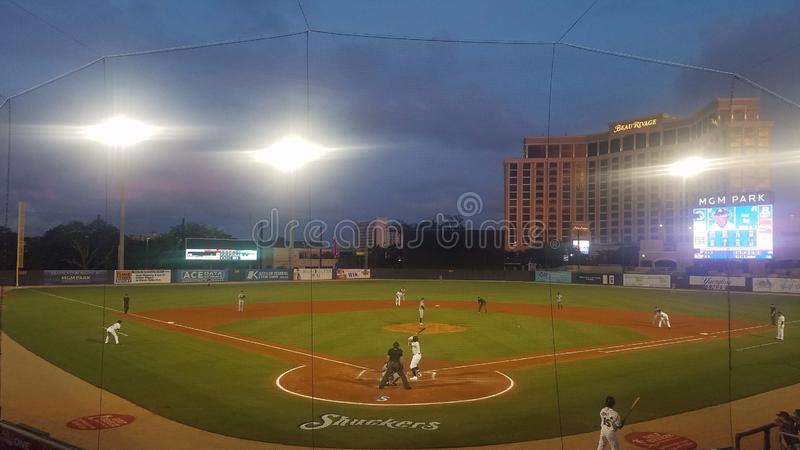 Campo de béisbol de Shuckers imagen de archivo