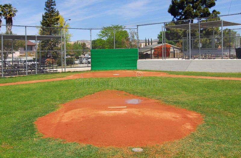 Campo de basebol da liga júnior fotos de stock
