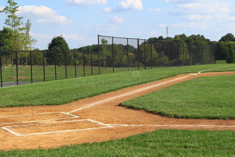 Campo de basebol vazio fotografia de stock royalty free