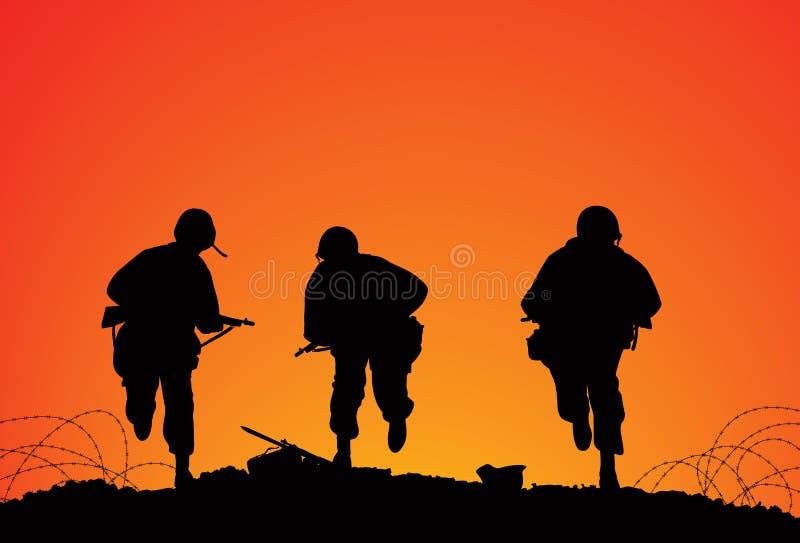 Campo de batalha ilustração stock
