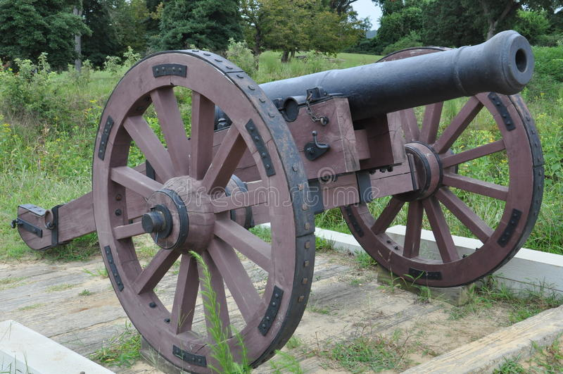 Campo de batalha de Yorktown em Virgínia fotografia de stock royalty free
