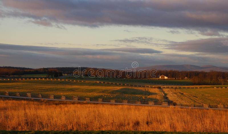 Campo de batalha de Gettysburg imagens de stock