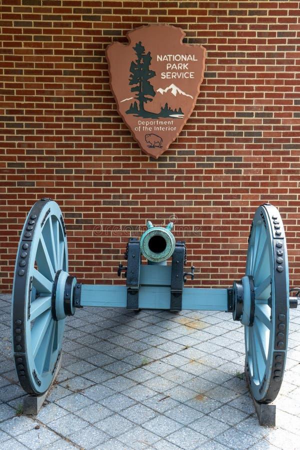 Campo de batalha de NPS Yorktown fotografia de stock royalty free