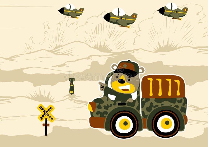 Campo de batalla ilustración del vector